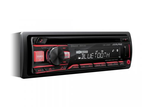 CD-tuner-with-Bluetooth-CDE-203BT-Red-Angle