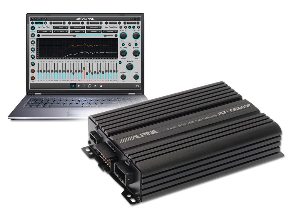 Amplificador Digital de 8 Canales con DSP - Alpine - PDP-E800DSP