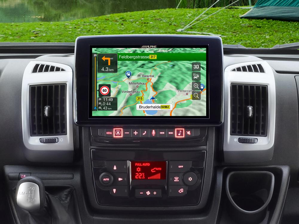 """Sistema de Navegación con pantalla táctil de 9"""" para Fiat Ducato 3 ..."""