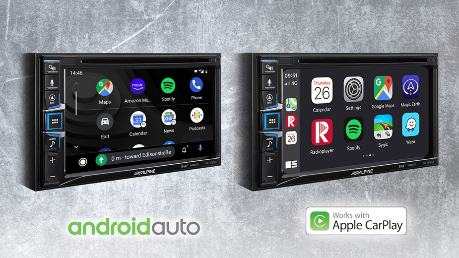 Apple CarPlay & Android Auto Compatibility - INE-W611DC