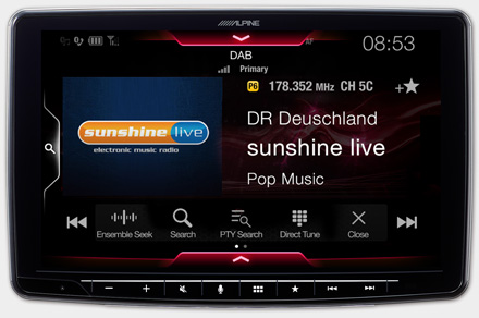 iLX-F903D - Radio digital DAB + incorporada