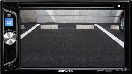 autoradio Alpine con pantalla para cámara de visión trasera - Estación Multimedia Alpine IVE-W560BT
