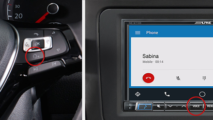 Voice Control - Navigation System INE-W720D