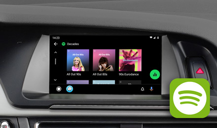 Audi A5 - Spotify - X703D-A5