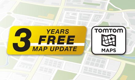 TomTom Maps with 3 Years Free-of-charge updates - X702D-Q5