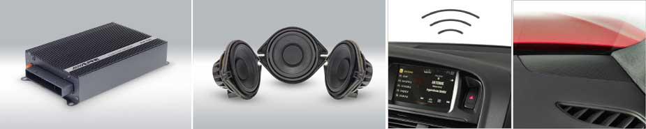 SPC-200AU - Las soluciones opcionales de amplificador digital y el sistema de altavoces de alto rendimiento desarrollados específicamente proporcionan una experiencia de sonido realmente asombrosa para su Audi Q5.