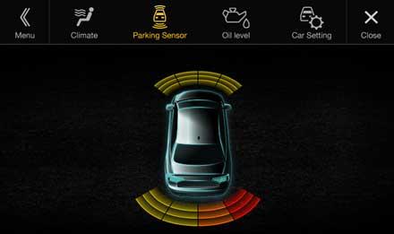 Audi A4 - X701D-A4: Asistencia al conductor - sensor de estacionamiento