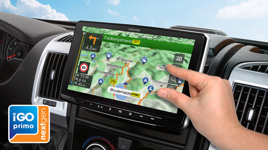 Alpine Style Navigation Designed for Ducato, Jumper and Boxer - INE-F904DU