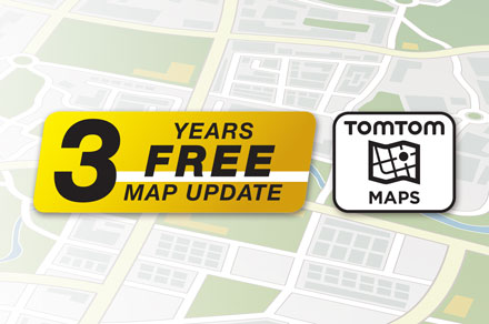 TomTom Maps with 3 Years Free-of-charge updates - INE-F904TRA