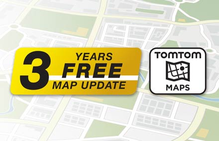 TomTom Maps with 3 Years Free-of-charge updates - X902D-F