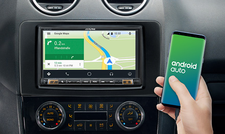 Online Navigation with Android Auto - INE-W710ML