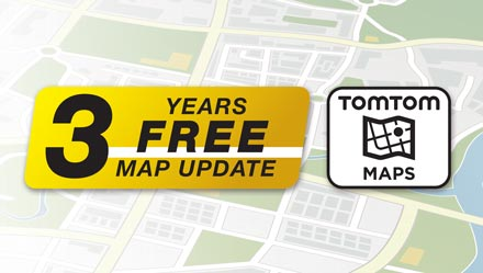 TomTom Maps with 3 Years Free-of-charge updates - INE-W710ML