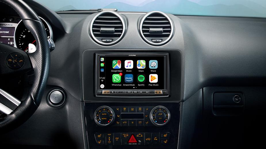 Alpine Style Mobile Media Designed for Mercedes ML/GL - INE-W720ML