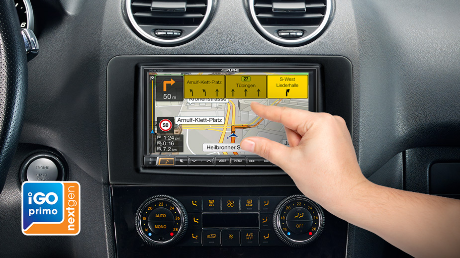 Integrated Navigation in your Mercedes ML/GL - INE-W720ML
