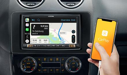 Online Navigation with Apple CarPlay - INE-W720ML