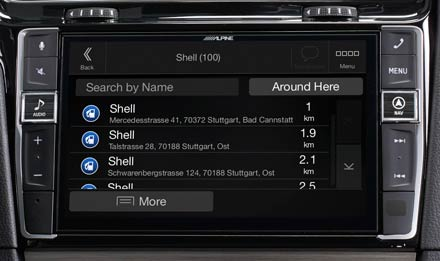 Golf 7 - Navigation - Points of Interest  - X903D-G7